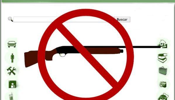 La ICAE deja clara la ilegalidad de la venta de armas en webs no especializadas